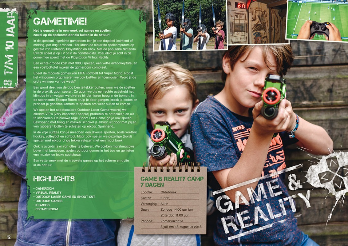 pagina uit Club Adventure brochure 2018