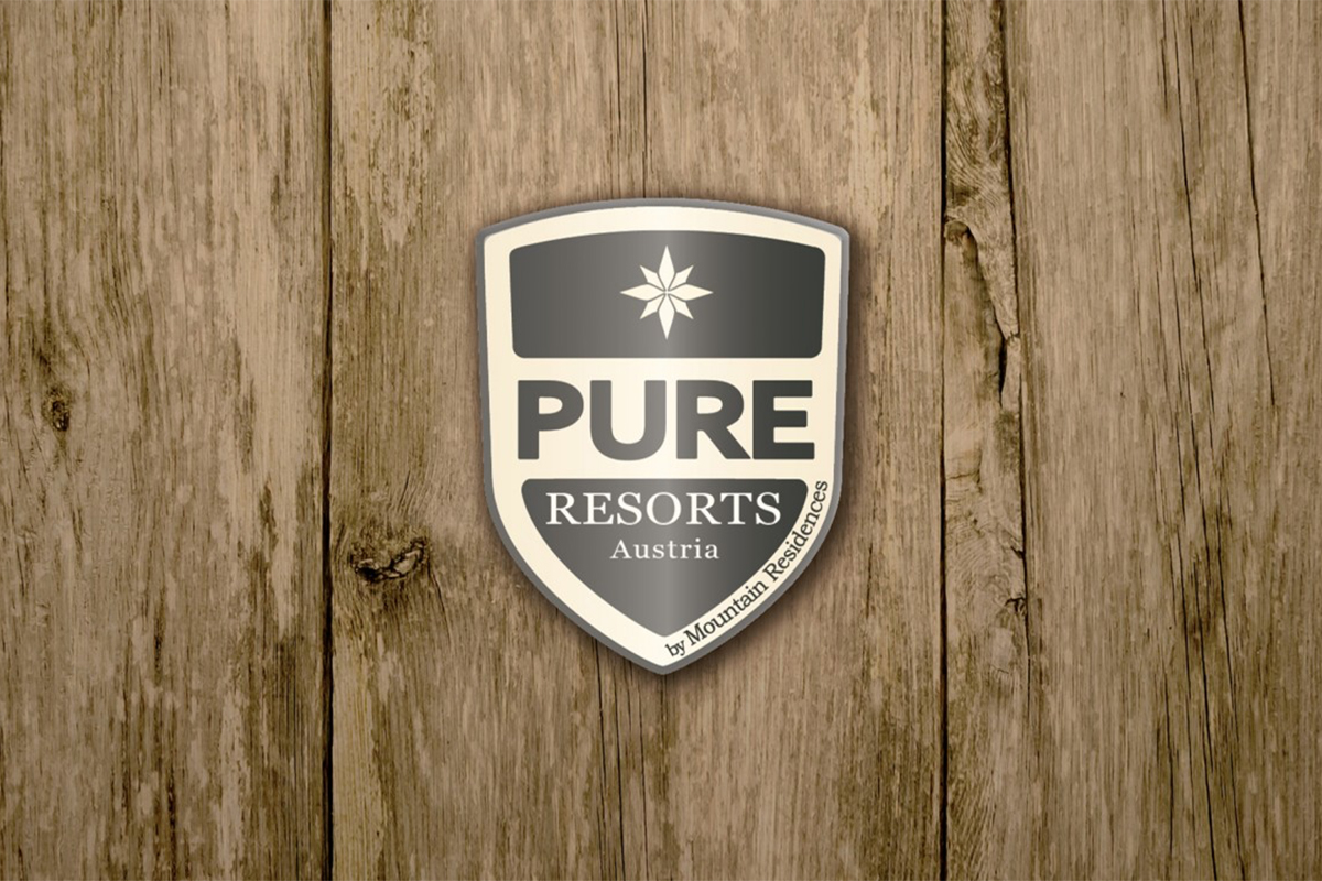 logo van pure resorts, van mountain residences
