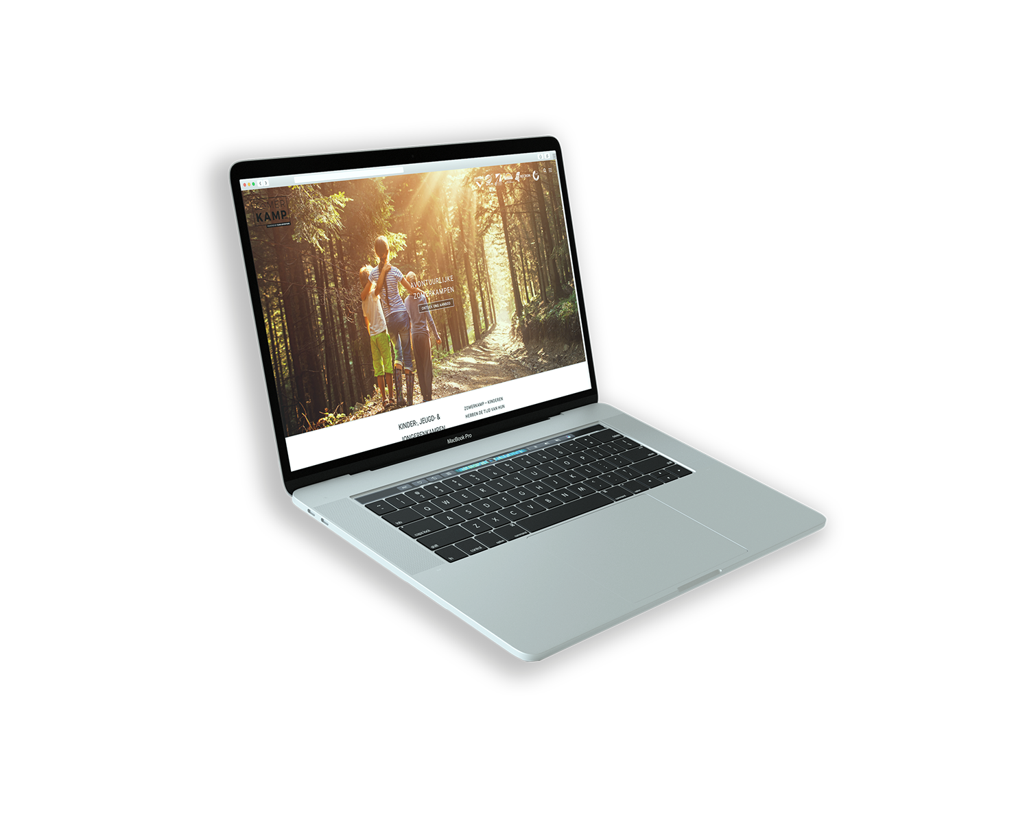 Macbook met website